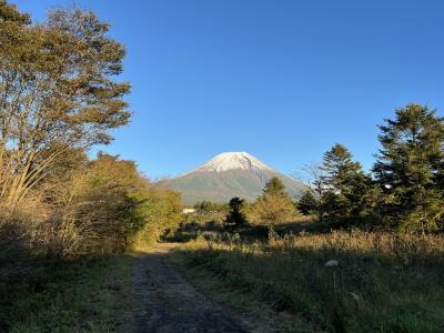 田貫湖から見た富士山及び富士山の裾野