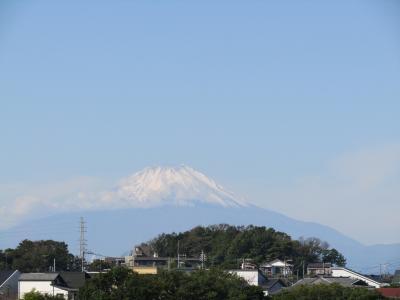 北鎌倉富士見道から見る富士山-2021年秋