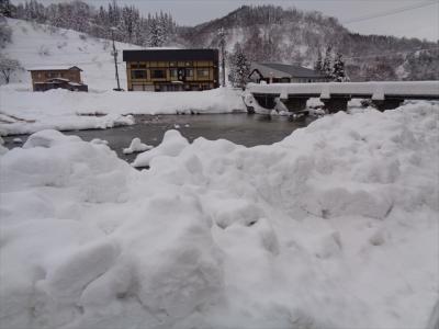 冬の肘折温泉