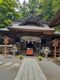 富士吉田五重塔と富士山(2)新倉富士浅間神社にお参りし、五重塔へ。