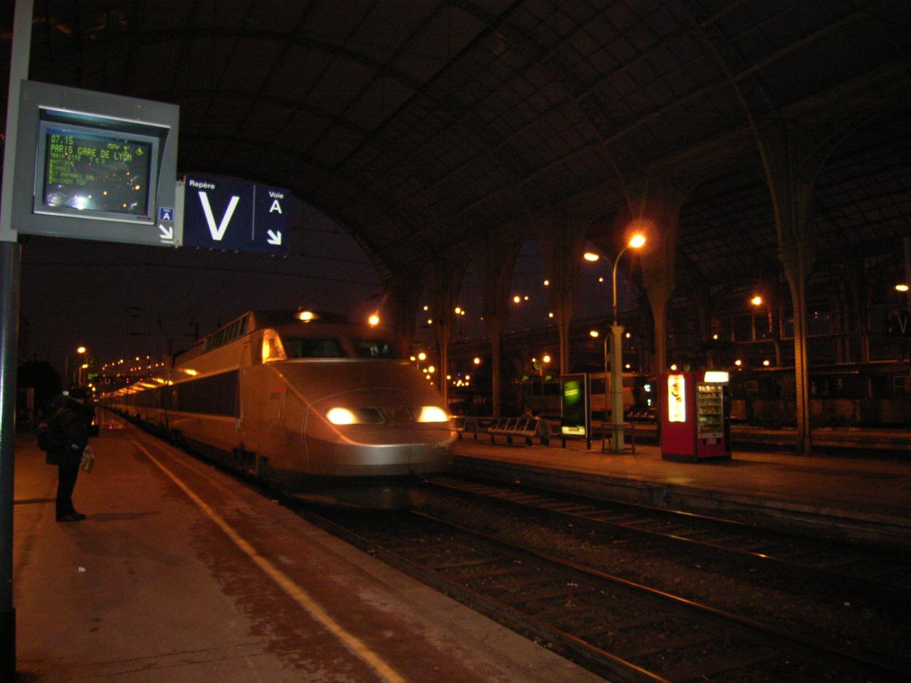 TGV(ニース~パリ)