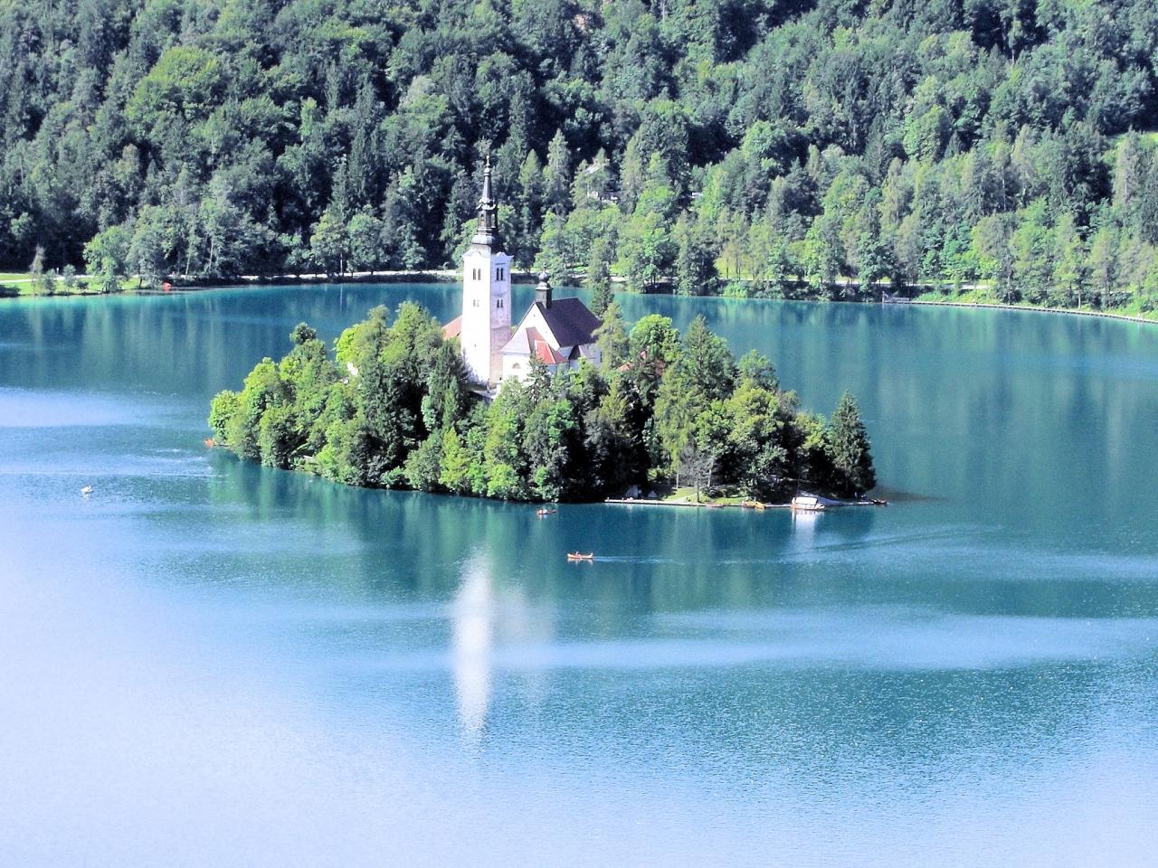 スロベニア・ブレッド湖聖マリア...