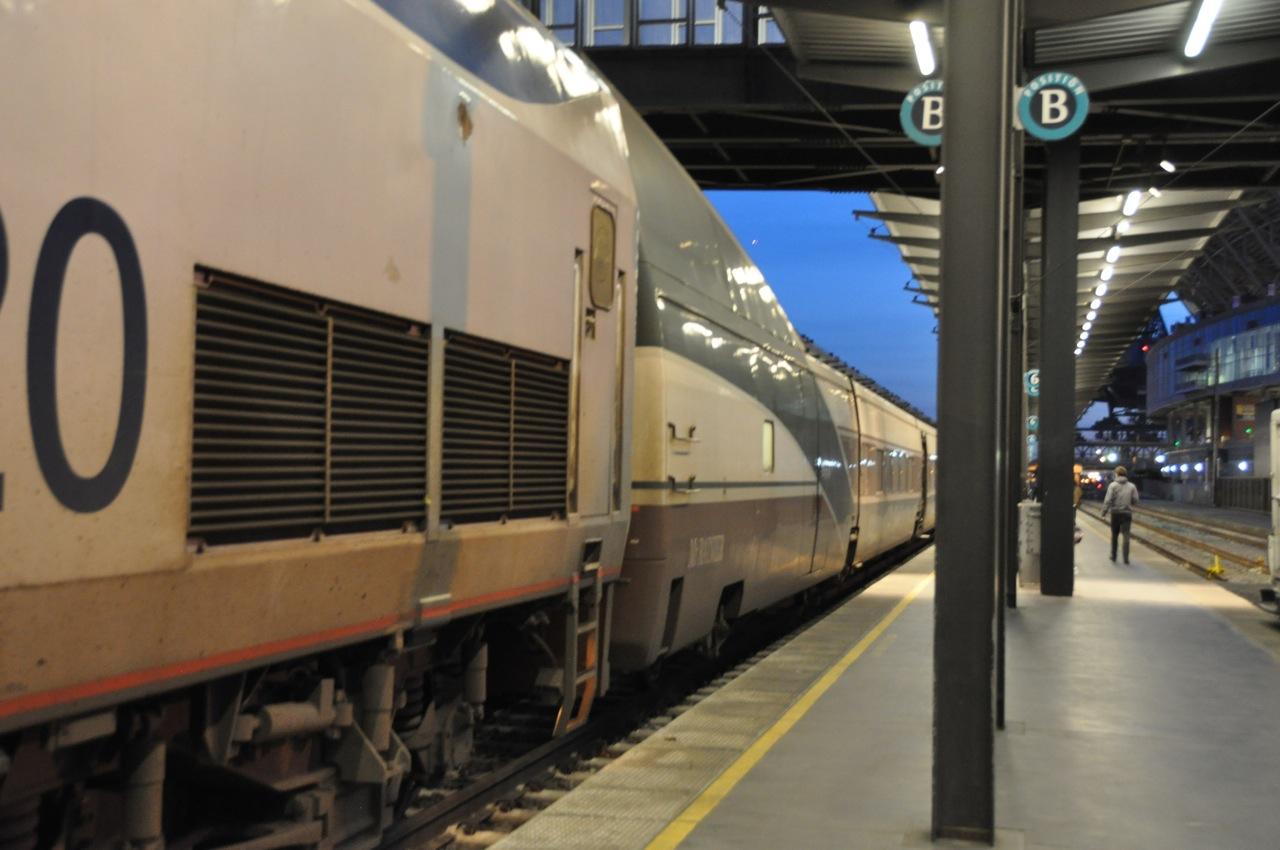 Amtrak Cascades でシアトルから...