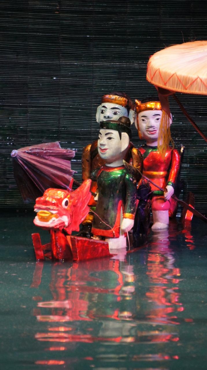 灼熱!河内之旅(7)ハノイで水上人形劇を観る