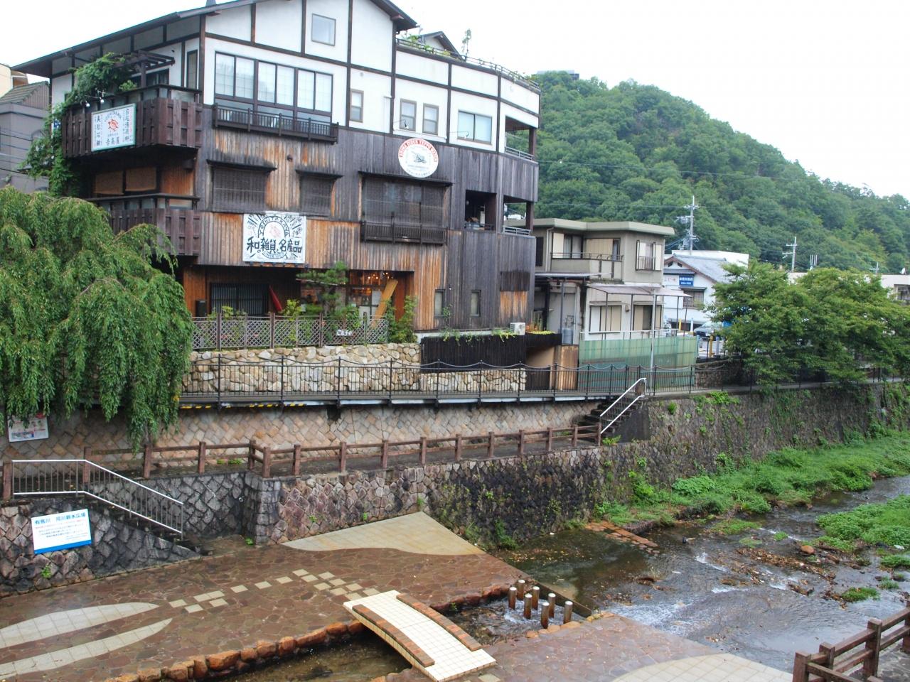 日本三古湯の有馬温泉の金の湯、...