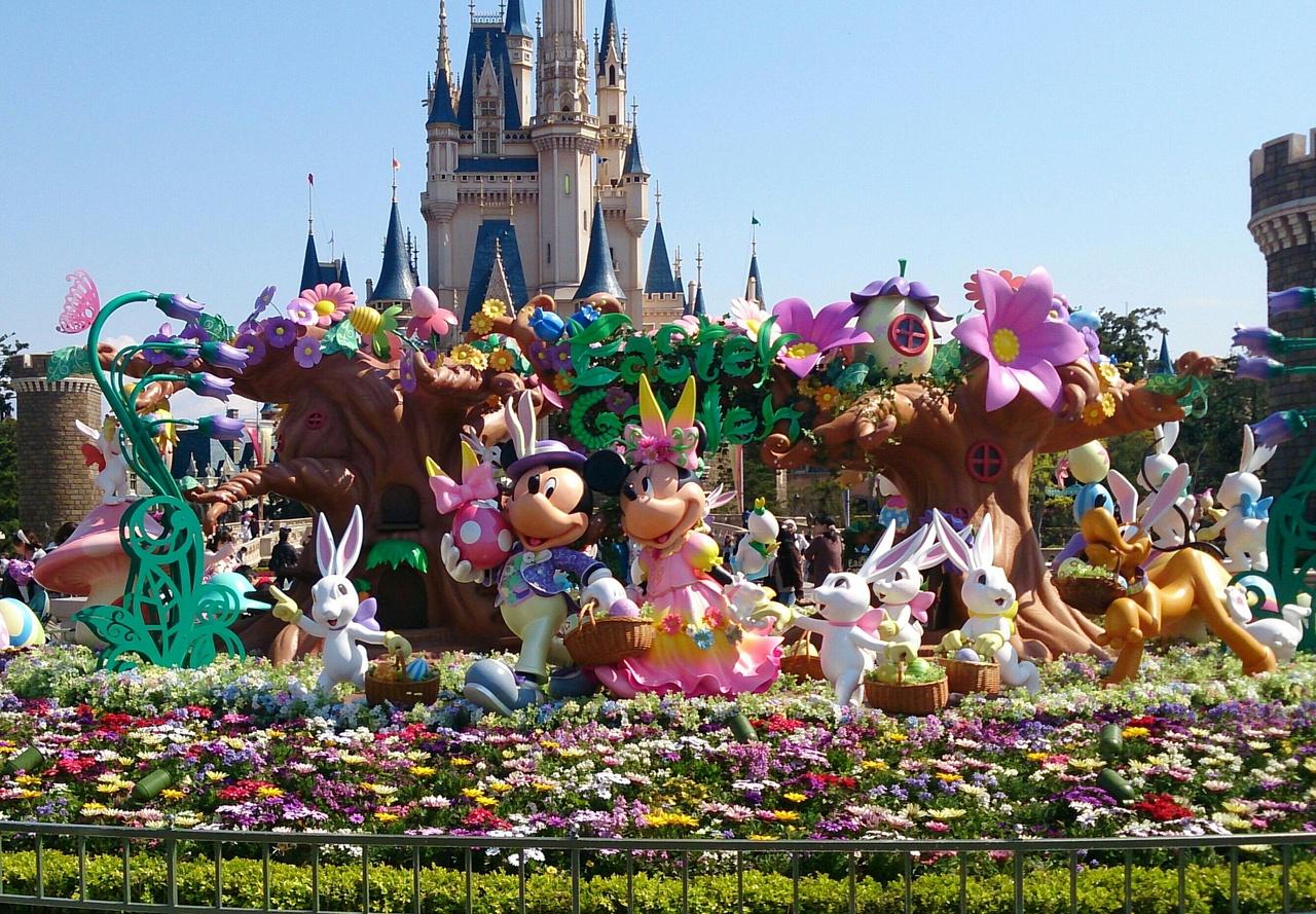 2014年4月 東京ディズニーランドのイースターと春の花♪』東京ディズニー