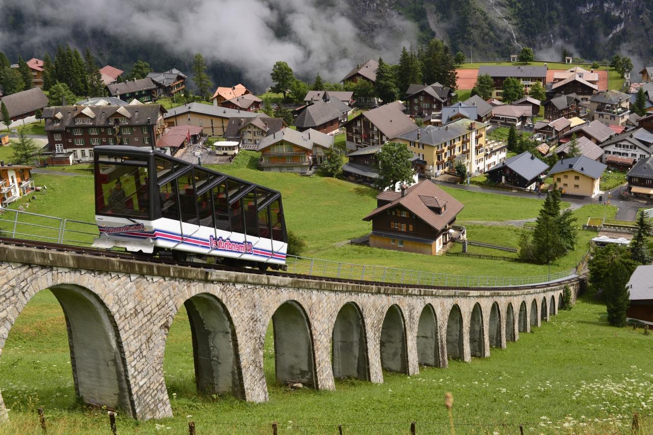 スイスの山眺め中心の旅