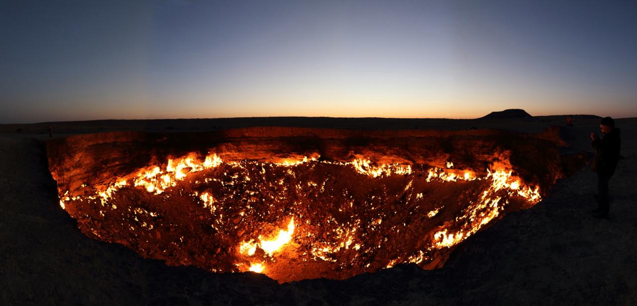 之 トルクメニスタン 地獄 門