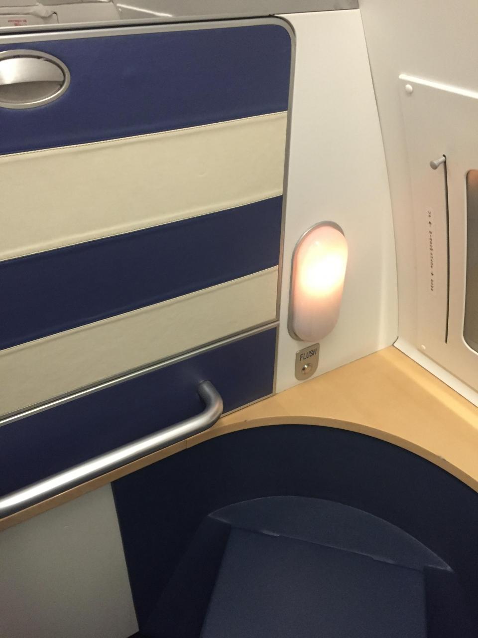 無駄に広いsas機内トイレとコペンハーゲン空港ラウンジ』コペンハーゲン