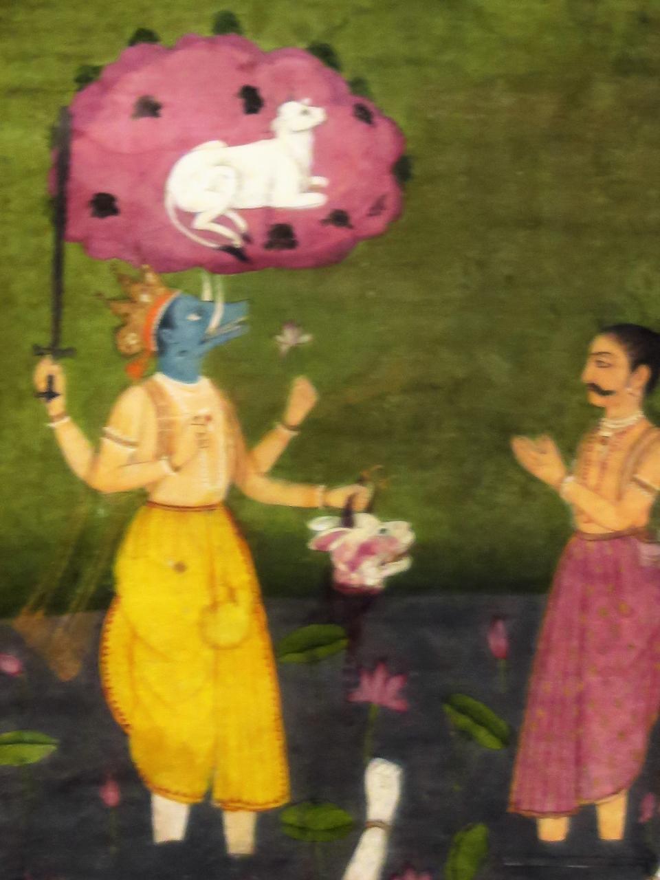 東博初詣-16 東洋館 インドの細密画 ☆ムガル王朝時代(16~19世紀)に制作