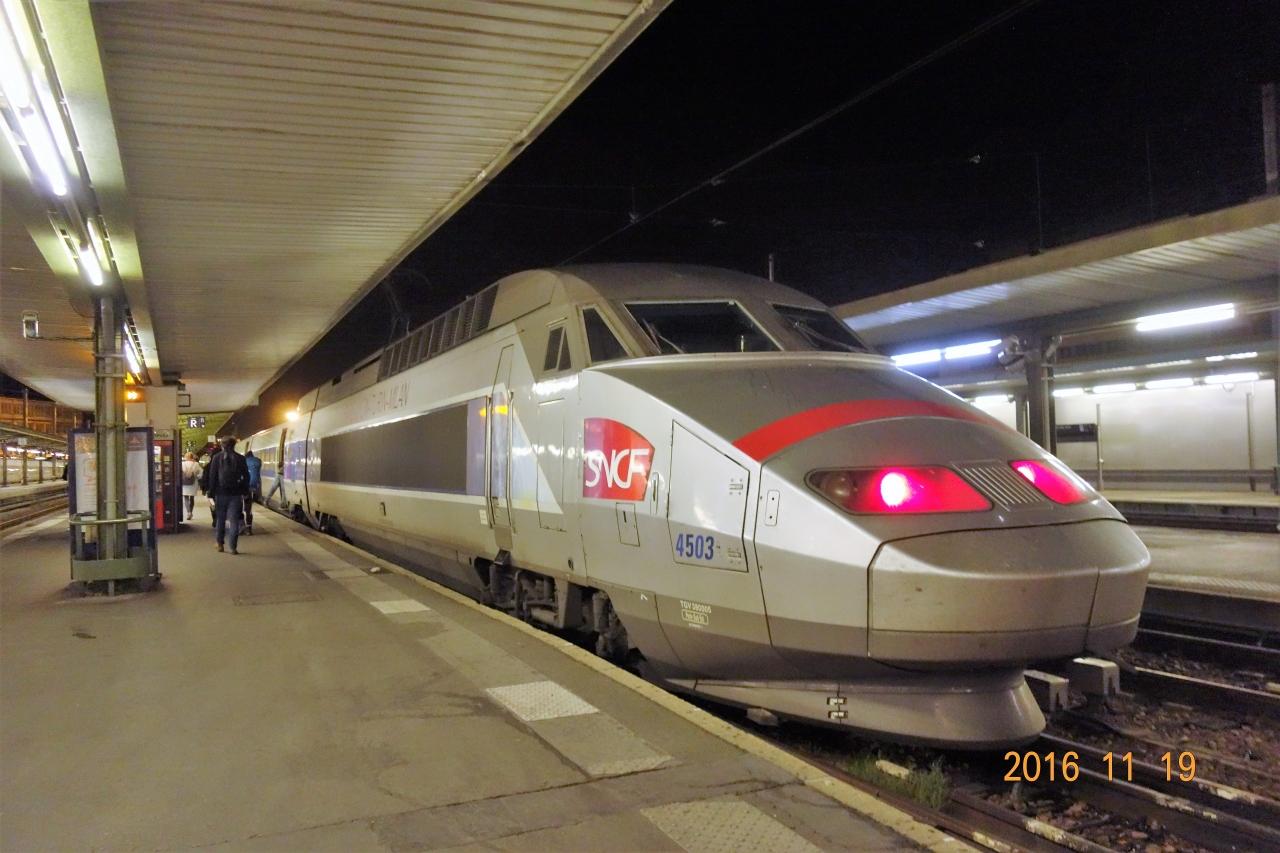 パリからTGVでミラノへ」 パリ~...