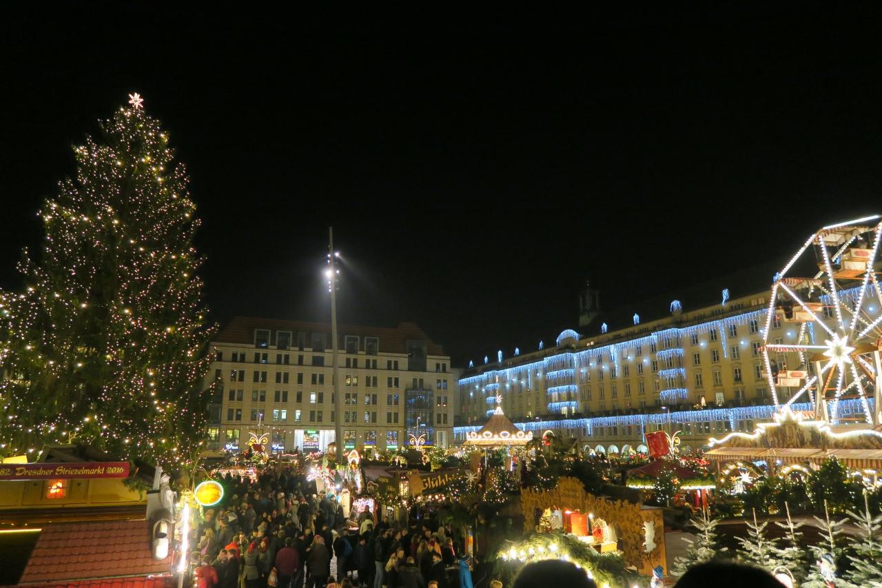 ドレスデン・クリスマスマーケット巡り』ドレスデン(ドイツ)の