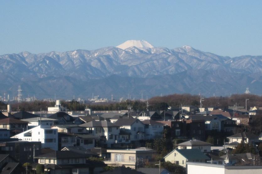 『横浜市青葉区美しが丘(たまプラーザ)から見える富士山を ...