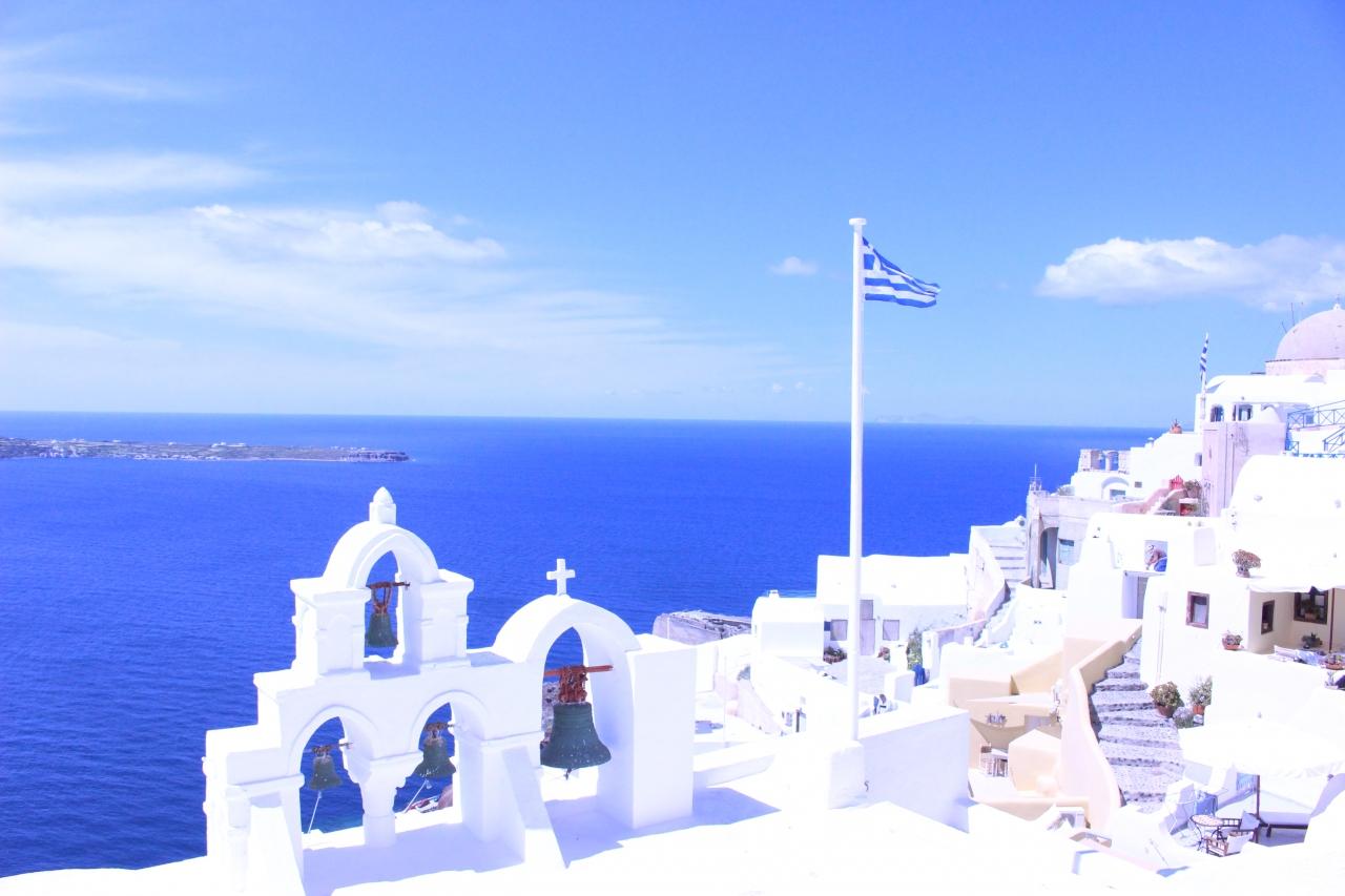 春のギリシャ サントリーニ島・...
