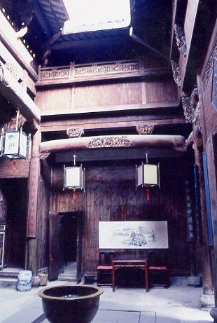宏村の中の豪邸内部 <br />