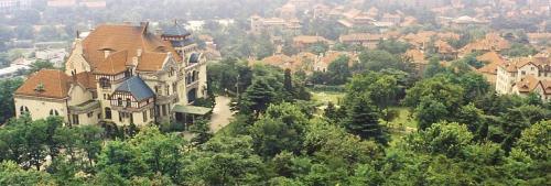 山上から見た元ドイツ総督邸