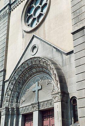 青島の教会の正面