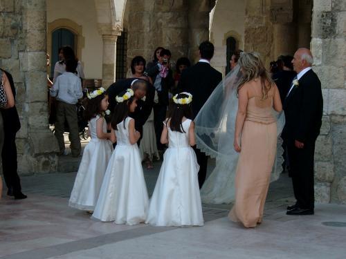 日取りもよかった(?)ようで、結婚式が行われていました。
