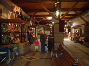 入場券売り場を越えたところです。<br />土産物屋とフードコートや休憩所がありました。<br />まっすぐ進むと、テーマパークに行きます。