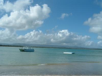 エメラルドコーストと言う名前のとおり、この辺の海の色は少し緑がかっている。