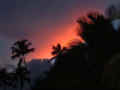そして、こんなきれいな夕焼けを見ました。