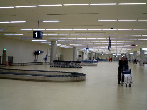 手荷物受取場<br />意外と早く荷物が出てきた。