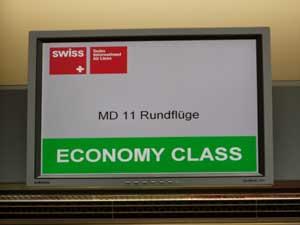 LX9便でチューリッヒに到着した後、スペシャルフライトとして、MD11によるスイス上空遊覧飛行がおこなわれました。