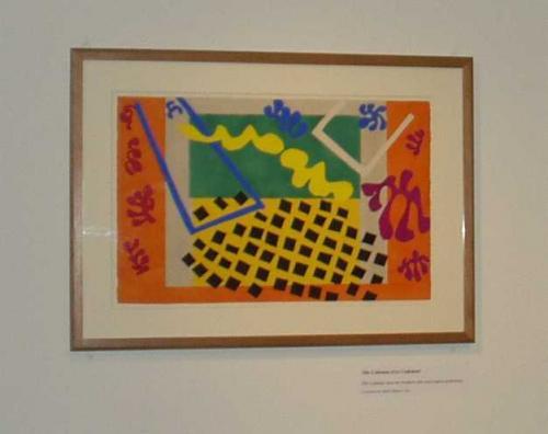 マチスって、こんなイメージです。<br />これは、2003年1月に、ニューオリンズの<br />旧造幣局での特別展のときに撮ったものです。<br />この写真は、本の挿絵の原画ですが、<br />ボルチモア美術館には、油絵がほとんどでした。