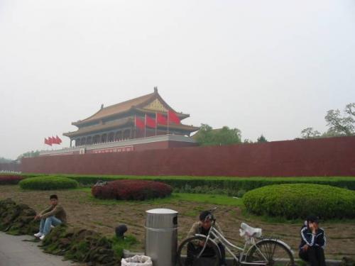 北京:紫禁城にて。2004.4.28撮影