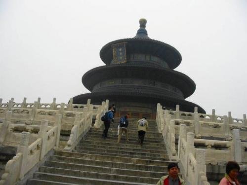 北京:世界遺産 天壇公園にて。 2004.4.28撮影
