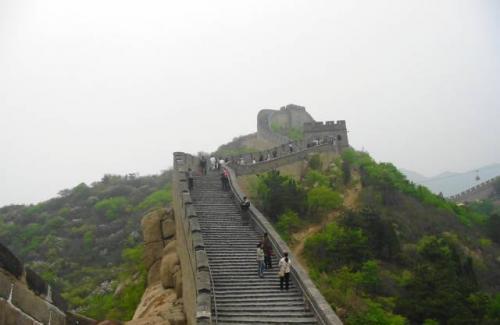 北京・八達嶺:世界遺産 万里の長城 。2004.4.28撮影