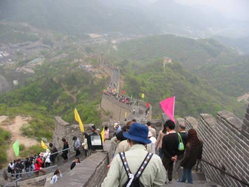 北京・八達嶺:世界遺産 万里の長城。2004.4.29撮影