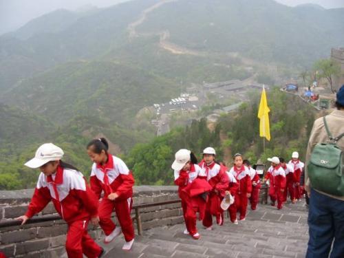北京・八達嶺:世界遺産 万里の長城。2004.4.29撮影。