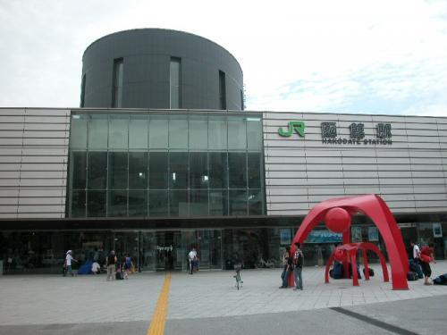函館駅。ご覧の通り、あまり天気が良くなかった。函館駅から、路面電車に乗って、市内電車を乗り潰した。路面電車については、路面電車のはなし[http://blog.goo.ne.jp/gammaru/]に掲載。