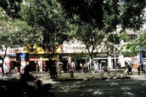 酒泉の街角。