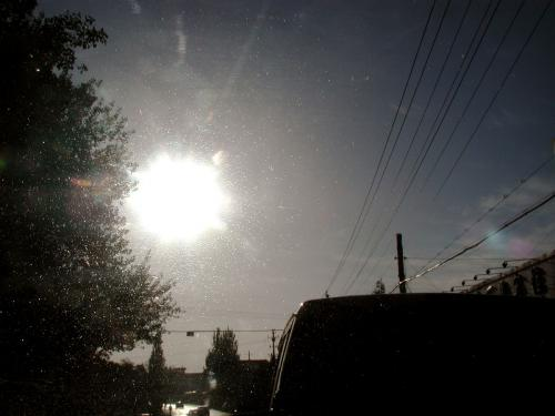 朝日の位置。時間は8時42分。 <br />80kmと言う事で、玉門関の距離とほぼ同じ。<br />だが・・・