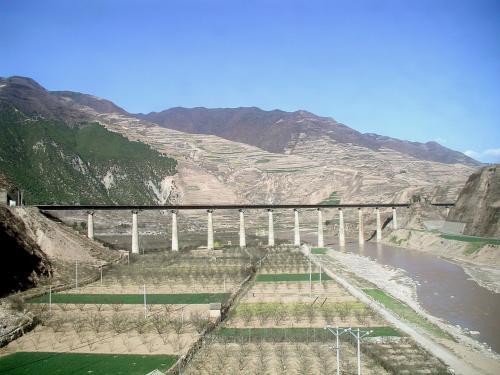 鉄道の架橋。