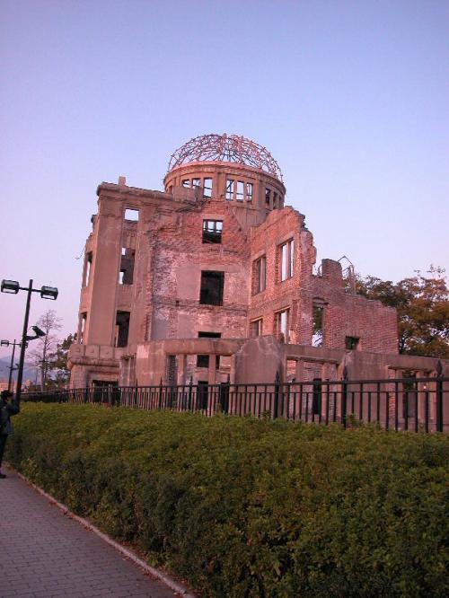 世界遺産の原爆ドーム。
