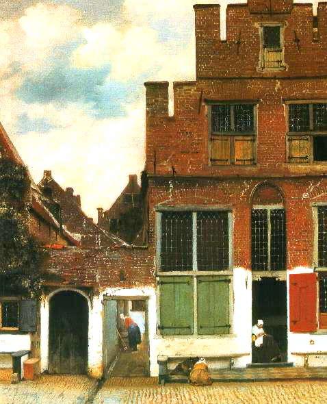 小路<br />(アムステルダム国立美術館/オランダ)<br />1958年頃の作品 53.5cm×43.5cm<br />初期の作品です。<br />フェルメールの描いた2点の貴重な風景画のうちのもう1枚。因みにもう1枚は『デルフトの眺望』です。<br /><br />アムステルダム国立美術館はかなり太っ腹でした。<br />なんと4枚も貸し出したのですから...。