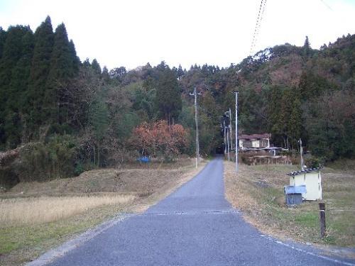 <トンネルへ向かう田舎道><br />上総大久保駅を出て間もなくです。<br />先にはトンネルがあります。