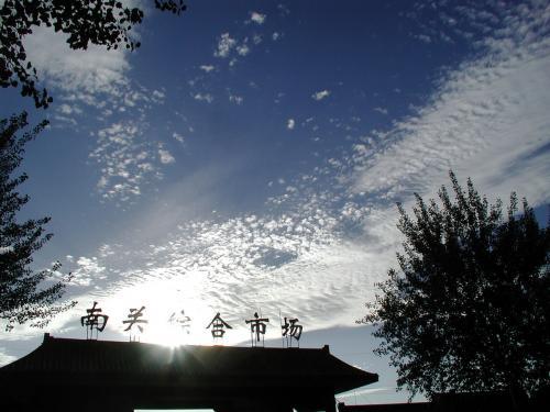 輝く鰯雲。<br />シルクロードに沿って出来た、雲のロードみたい。