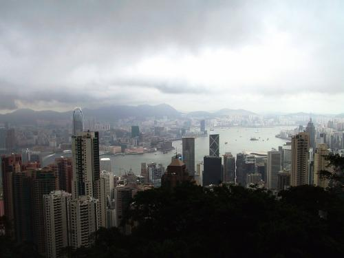 夕方5時半の香港島。