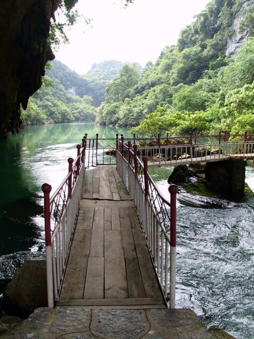 渡り橋の様子。