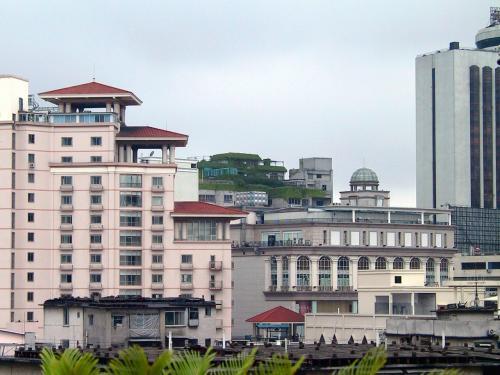 楊さん家の部屋は最上階の8階。<br />柳州のアパートでは、最上階には屋上の使用権利が付いて居るんです。<br />その屋上には、奥さんが丹誠込めて作っている枇杷や葡萄が有りました。<br />葡萄は「巨峰」で、一つ一つビニール(スーパーの袋)がかぶせてありました。