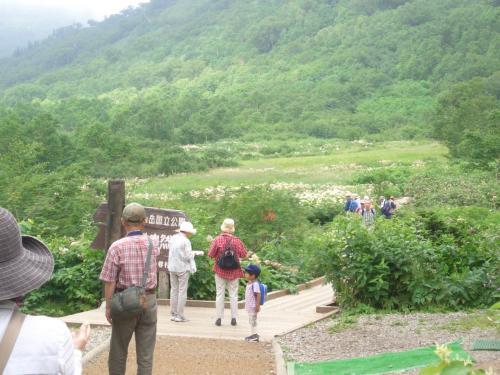 栂池自然園到着。<br />少し曇っていたけど、歩きやすい気温で結果的にはよかったかも。<br />