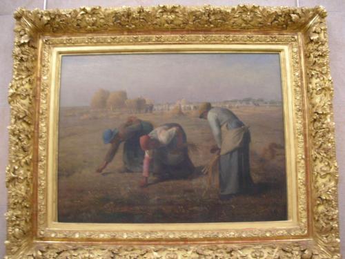 中に進むと、美術に詳しくない私でも「この絵教科書で見た!」、「この人知ってる!」って<br />作品がい〜っぱいありました。<br />19世紀の印象派の作品を中心に展示、と言われても私はピンと来なかったのですが、<br />ミレー、モネ、ルノワール、ゴッホ、マネ… <br />私でも知っている人、作品が本当にたくさん!<br />知らなくてもこの絵いいなーっていうのを数多く発見して、ワクワクしました。<br />かなりぐるっと見て回って、やっぱりどうしても聞いてみたくなってオーディオガイド(5E)を借りました。<br />最初っから借りればよかったな。<br />何も先入観がなくて観るのもいいですが、説明を聞きながら鑑賞すると、なるほどーふむふむとじっくり観ることができました。