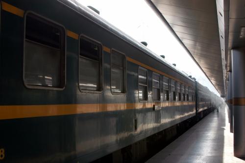 23日時刻改訂後の一番列車の様子。