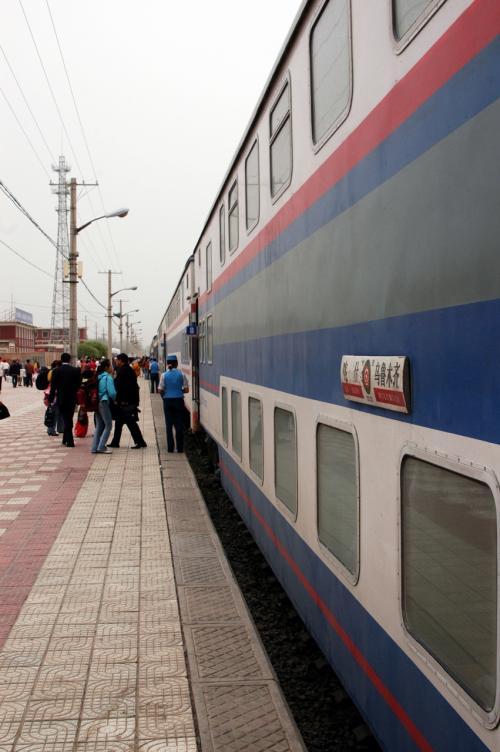 新疆旅游列車、お疲れ様。
