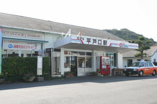 平戸・生月島への旅は、ここ松浦鉄道「たびら平戸口駅」から始まりました。