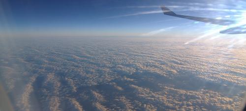 機上からの眺め。。